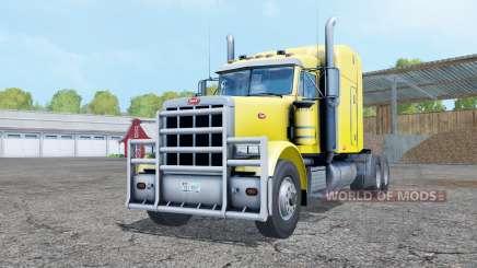 Peterbilt 378 pure yellow для Farming Simulator 2015