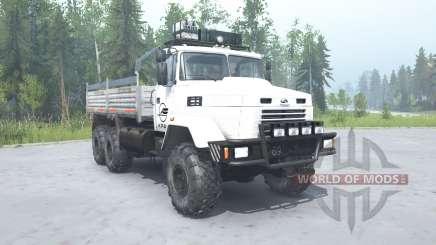 КрАЗ 6322 белый окрас для MudRunner