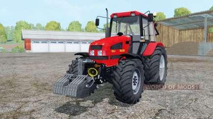 Беларус 1221.4 ярко-красный окрас для Farming Simulator 2015