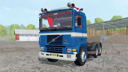 Volvo F12 dark blue для Farming Simulator 2015