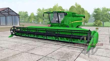 John Deere S670 vivid malachite для Farming Simulator 2017