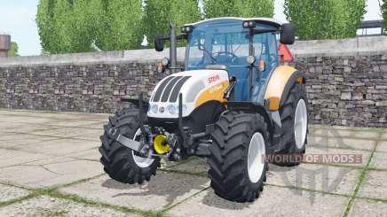 Steyr 4115 Multi 2013 soft orange для Farming Simulator 2017