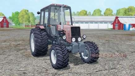 МТЗ 82.1 Беларус ненасыщенно-красный для Farming Simulator 2015