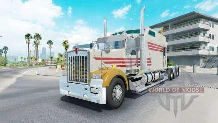 Kenworth W900B long grayish yellow для American Truck Simulator
