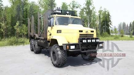 КрАЗ 6322 мягко-жёлтый окрас для MudRunner