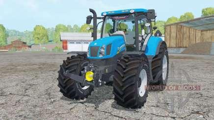 New Holland T6.175 process cyan для Farming Simulator 2015