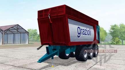 Grazioli Domex 200-6 dark red для Farming Simulator 2017