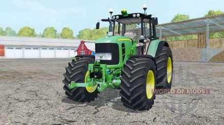 John Deere 7530 Premium front loader console для Farming Simulator 2015