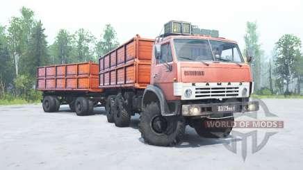 КамАЗ 4310 светло-красный окрас для MudRunner