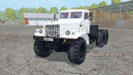 КрАЗ-258 белый окрас для Farming Simulator 2015