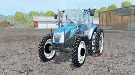 New Holland T4.55 pure cyan для Farming Simulator 2015
