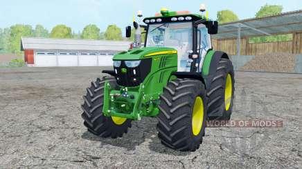 John Deere 6210R moving elements для Farming Simulator 2015