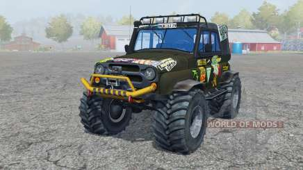 УАЗ Hunter (315195-130) Monster для Farming Simulator 2013