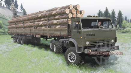 КамАЗ-4310 тёмно-серо-зелёный окрас для Spin Tires