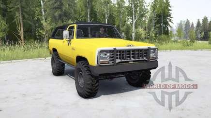 Dodge Ramcharger 1982 _ для MudRunner