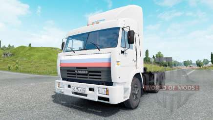 КамАЗ-54115 белый окрас для Euro Truck Simulator 2