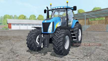 New Holland TG 285 cyan для Farming Simulator 2015