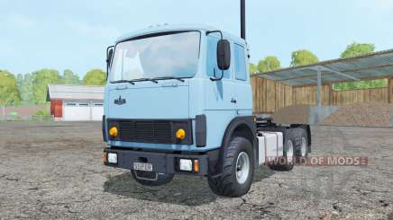 МАЗ-6422 небесно-голубой окрас для Farming Simulator 2015
