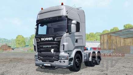 Scania R730 V8 Topline 6x6 для Farming Simulator 2015