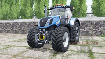 New Holland T7.290 rich electric blue для Farming Simulator 2017