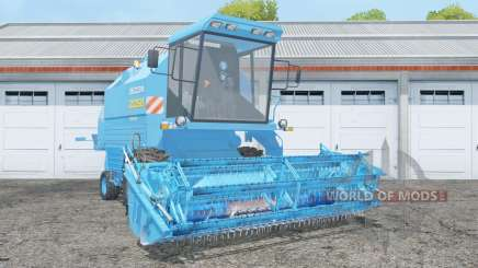 Bizon Rekord Z058 with header для Farming Simulator 2015