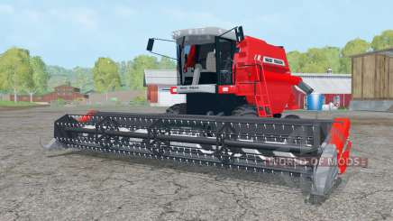 Massey Ferguson 34 with headers для Farming Simulator 2015