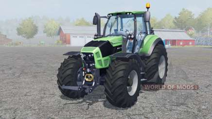 Deutz-Fahr Agrotron 7250 TTV front loader для Farming Simulator 2013