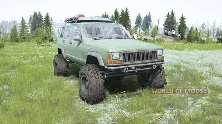 Jeep Cherokee (XJ) 1996 lifted для MudRunner