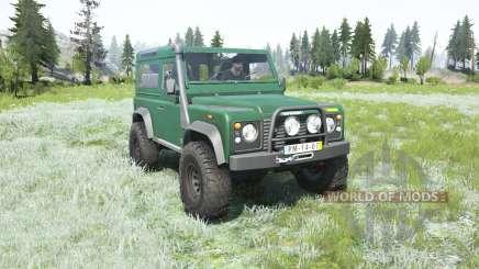 Land Rover Defender 90 Station Wagon 2000 для MudRunner