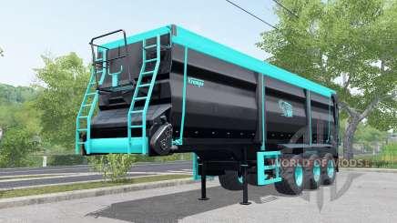 Krampe Sattel-Bandit 30-60 blue and black для Farming Simulator 2017