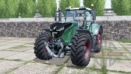 Fendt 1042 Vario green cyan для Farming Simulator 2017