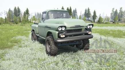 Chevrolet Apache 36 Stepside 1958 для MudRunner