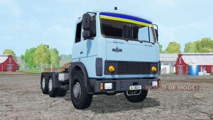 МАЗ-6422 мягко-синий окрас для Farming Simulator 2015