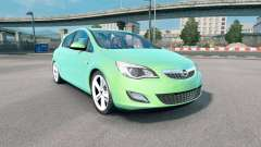 Opel Astra (J) 2010 medium spring green для Euro Truck Simulator 2