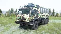 КамАЗ-5350 Мустанг в камуфляже для MudRunner