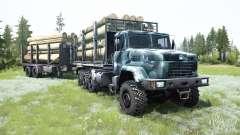 КрАЗ-7140Н6 8x8 для MudRunner