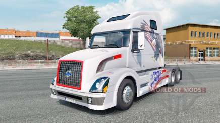 Volvo VNL 670 light gray для Euro Truck Simulator 2