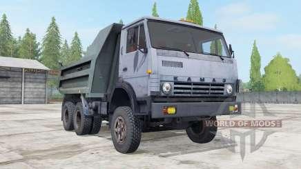 КамАЗ-55111 серовато-синий окрас для Farming Simulator 2017