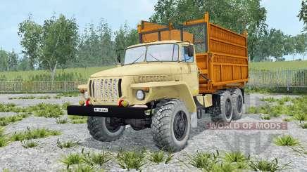 Урал-5557 мягко-жёлтый окрас для Farming Simulator 2015