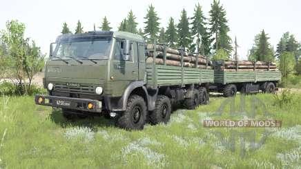 КамАЗ-6350 Мустанг 1998 для MudRunner