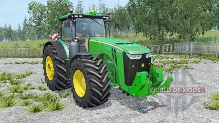 John Deere 8370R IC control для Farming Simulator 2015