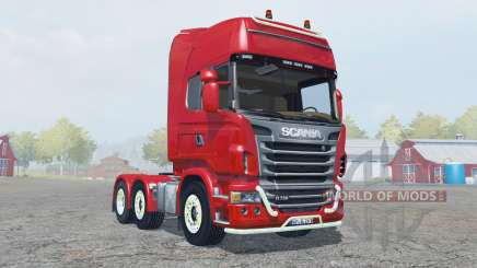 Scania R730 Topline strong red для Farming Simulator 2013