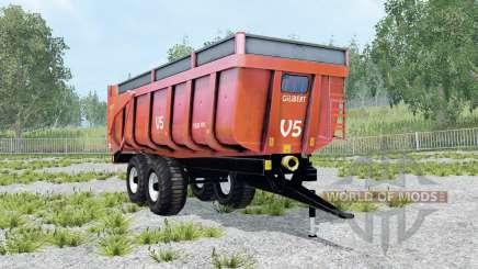 Gilibert 1800 Pro red orange для Farming Simulator 2015