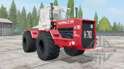 Кировец К-710 ярко-красный окрас для Farming Simulator 2017