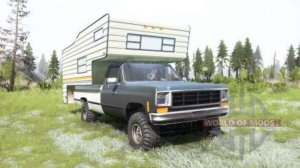 Chevrolet K10 Camper 1987 для MudRunner