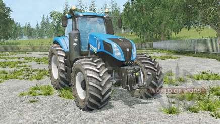 New Holland T8.320 full animation hydraulic для Farming Simulator 2015