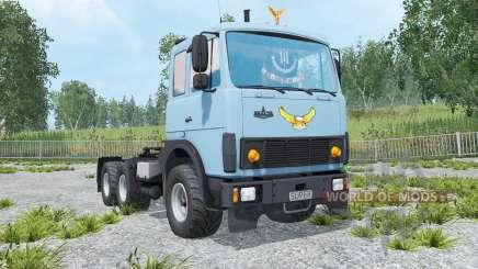 МАЗ-6422 светло-васильковый окрас для Farming Simulator 2015