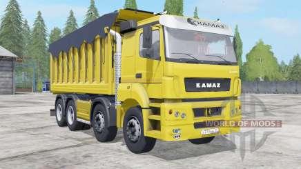 КамАЗ-65201 с прицепом для Farming Simulator 2017