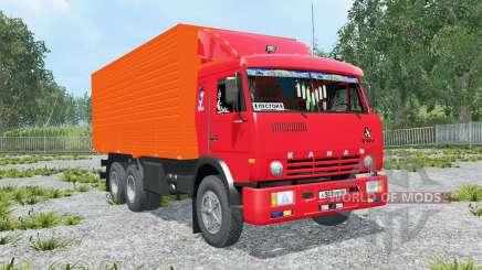 КамАЗ-53212 ярко-красный окҏас для Farming Simulator 2015
