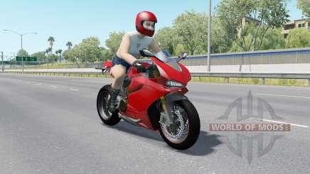 Motorcycle Traffic Pack v3.0 для American Truck Simulator
